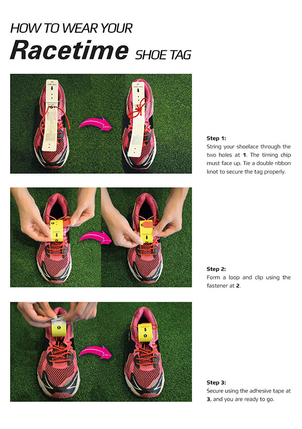 Racetime Shoe Tag Instruction